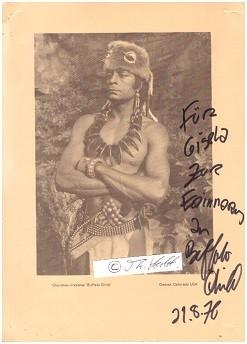 BUFFALO CHILD (Silkirtis Nichols, 1923) indianischer Schauspieler, Cherokee-Indianer