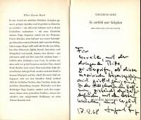 SIEGFRIED LENZ (1926-2014) Dr., deutscher Schriftsteller, Ehrenbürger von Schleswig-Holstein, 1988 Friedenspreis des Deutschen Buchhandels, 1999 Goethepreis