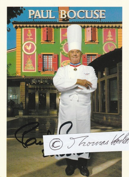 PAUL BOCUSE (1926-2018) französischer Starkoch, Gastronom, Kochbuchautor, prägte die Nouvelle Couisine mit, Koch des Jahrhunderts
